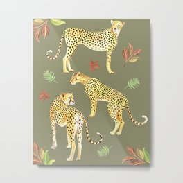 Cheetah Clearing Metal Print