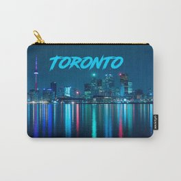 Toronto Canada Nighttime Skyline over Water Colored Carry-All Pouch