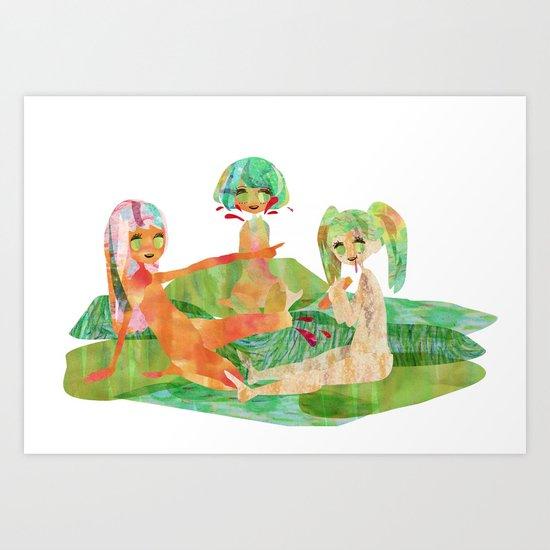 EAT MORE GREEN. Art Print