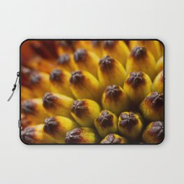 Extreme close up of center of African Daisy Laptop Sleeve
