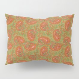 Meredith Paisley - Light Olive Green Pillow Sham