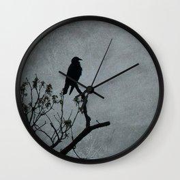 Majestic Crow Wall Clock