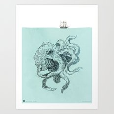 Beast of the Deep Art Print