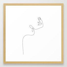 Dreamy Girl Framed Art Print