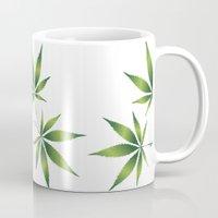 marijuana Mugs featuring Marijuana Leaves  by Limitless Design