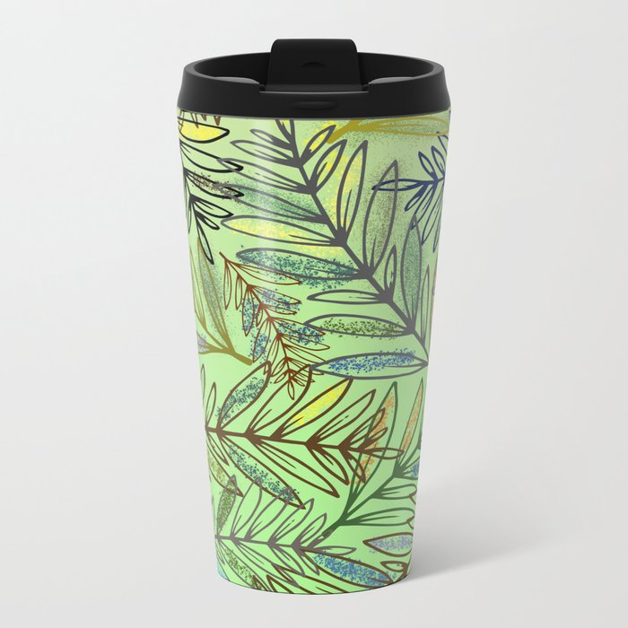 pattern 18 Metal Travel Mug