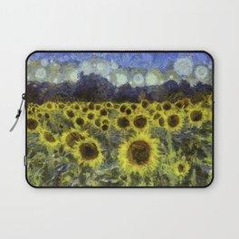 Sunflower Fields Of Dreams Van Goth Laptop Sleeve