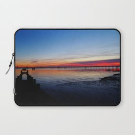 Sunset on the Shore of Southend Laptop Sleeve