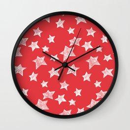 Christmas stars pattern Wall Clock