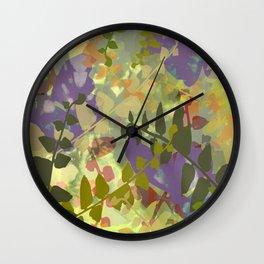 Green Butterfly Jungle Wall Clock