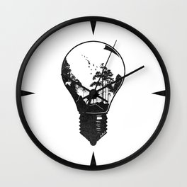 Terrarium Wall Clock