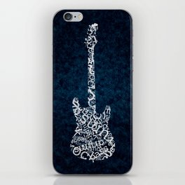 While My Guitar Gently Whips iPhone Skin