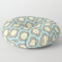 Orla Floral Grey Floor Pillow