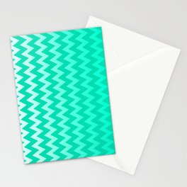 Teal Chevron Stationery Cards