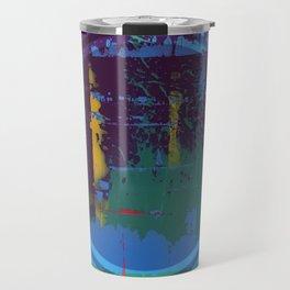 Color Chrome - polka dot graphic Travel Mug