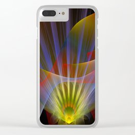 Inner light, spiritual fractal abstract Clear iPhone Case