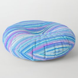 Blue Purple Random Lines Floor Pillow