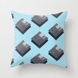 Floppy disks Throw Pillow