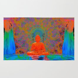 Cool Water Zen (Ultraviolet) (psychedelic, meditation) Rug