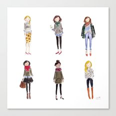 Fall Girls Canvas Print