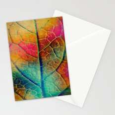 Colored Leaf Stationery Cards