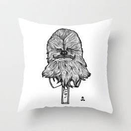 Mustache Wookiee Throw Pillow