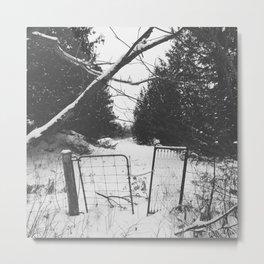 Snowy Gates Metal Print