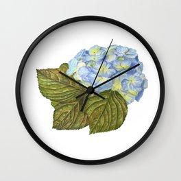 Blue Hydrangea Wall Clock