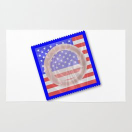 Stars And Stripes Condom Rug