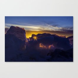 Sunset in the Ice Canvas Print