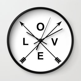 Love and Arrows Wall Clock