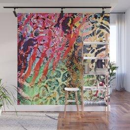 skin mesh in red mood Wall Mural