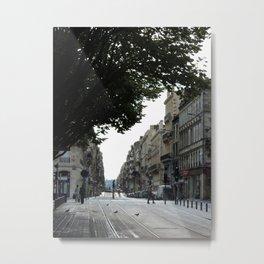 Bordeaux tram tracks Metal Print
