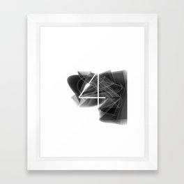 Number 4. Dark Math 4 Framed Art Print