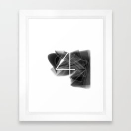 Number 4. Dark Math 4 Framed Art Print