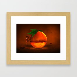 100 % natural juice Framed Art Print