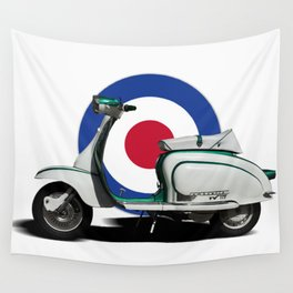 Mod scooter Wall Tapestry
