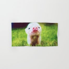CUTE LITTLE BABY PIG PIGLET Hand & Bath Towel
