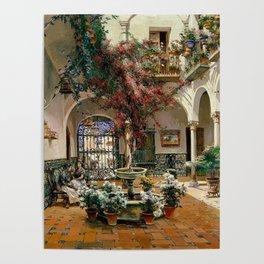 Interior Courtyard Seville Spain by Manuel Garcia Y Rodriguez Poster
