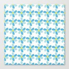 Blue Flower Pattern Canvas Print