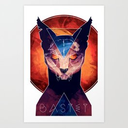 Bastet - Cat Goddess Art Print