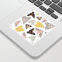 Moth's Diverse Beauty Pattern Sticker