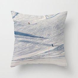 Skiers. Throw Pillow
