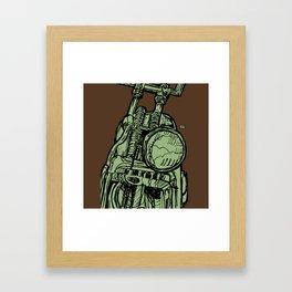 MOTORCYCLE HEADLIGHT Framed Art Print