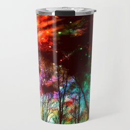 Black Trees Haunting Space Travel Mug