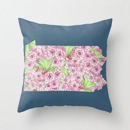Pennsylvania in Flowers Throw Pillow