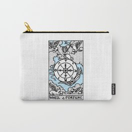Geometric Tarot Print - Wheel of Fortune Carry-All Pouch