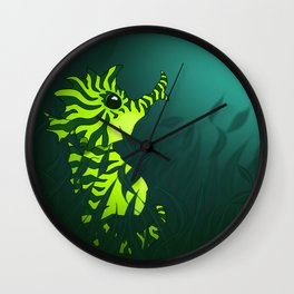 Seaweed Seahorse Wall Clock