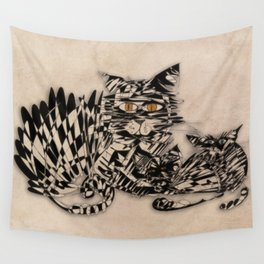 3 cats esoflowizm art Wall Tapestry