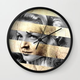 "Leonardo's ""Head of a Woman"" & Lauren Bacall Wall Clock"